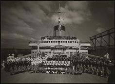 """Ships, French Line, S.S. """"Normandie""""."""