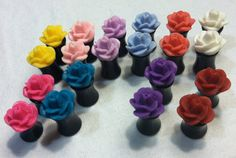 Etsy の Rose Plugs 2g 0g by WorksofArk