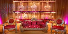 Muslim ceremony with layers of chandeliers