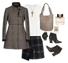 """Checked"" by belaya-anna on Polyvore featuring By Malene Birger, Nixon, Chicwish, Finders Keepers, The Giving Keys, Nancy Gonzalez, FAY and Burberry"