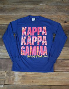 Hey Kappa Kappa Gamma Sisters! Show your love for your University of North Texas Chapter in this new Comfort Color t-shirt!
