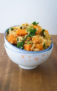 Millet with Butternut Squash and Kale - gluten free and vegan, this dish is fresh and full of flavor
