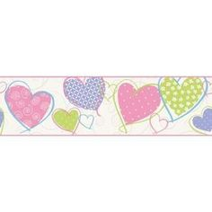Inspired By Color 6.75-In Multicolor Prepasted Wallpaper Border Je3565