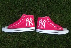 New York Yankees Pink High Top Shoes - Women's