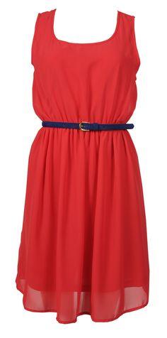 forever 21 dresses   Forever-21-red-midi-dress-with-belt
