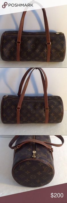 Authentic Louis Vuitton Papillon 30 Monogram Bag. The strap and leather showed signs of used. The bad was made in France with a date code 043 the canvas is good. The dimension is 12 and 5.5. Louis Vuitton Bags Satchels