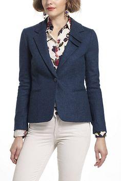 too short? :: Pleated Collar Blazer - Anthropologie.com
