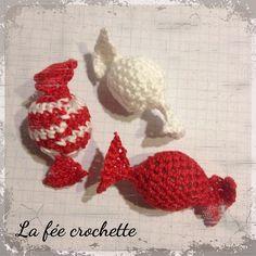 #Bonbons #crochet #rougeetblanc #serialcrocheteuses #deconoël #Padgram