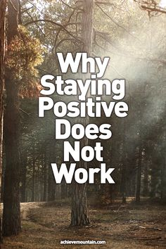 Self Care - Why Staying Positive Does Not Work