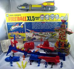 1964 Steve Zodiac's Fireball Space City playset by Multiple Toymakers Retro Toys, Vintage Toys, 1960s Toys, Space City, Morning Cartoon, Sci Fi Models, Space Toys, Old Shows, Kids Growing Up