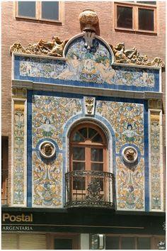 Talavera de la Reina - panel de azulejos - España