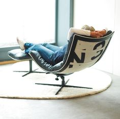 Fauteuil Spinnaker, chair made from recycled boat sails