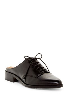 Menswear vibes with these Pour La Victoire Black Felix Slip-On Oxfords