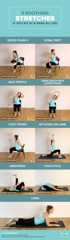 9 Easy Stretches That Eliminate the Damage of Sitting