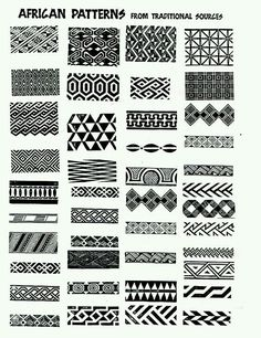 ILLUSTRATION // african patterns - ideas for zentangle per tinto filo Zentangle Patterns, Zentangles, Blackwork Patterns, Easy Zentangle, Pattern Art, Pattern Design, Pattern Ideas, Greek Pattern, Geometry Pattern