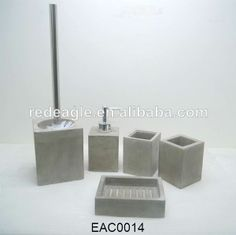 EAC0030 2014 New design Eco-Friendly cement material bathroom accessories natural stone $1~$4