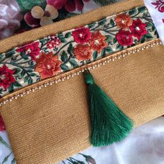 Floral Clutch Ethnic Clutch Bag Bohemian Clutch by BOHOCHICBYDAMLA