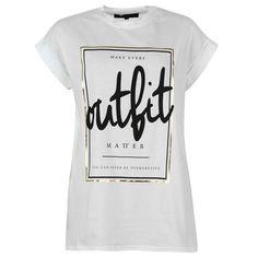 Zoom Clothes Words, Slogan Tshirt, Girls Fashion Clothes, Girls Tees, Short Tops, Cool T Shirts, Fashion Brand, Printed Shirts, Custom Shirts