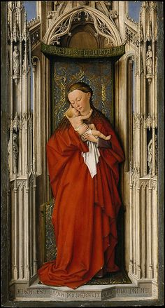 Virgin and Child in a Niche, Netherlandish Painter, ca 1500, Oil on wood. The Metropolitan Museum of Art, NY.