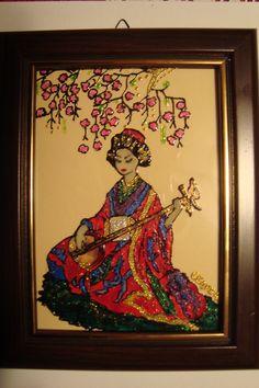 Geisha Glass painting Mirjana Selena