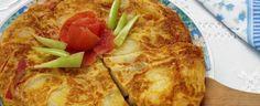 Ingredients   Ingredients for  - 4 people:  - 4 medium potatoes  - 4 or 5 eggs  - 1 medium onion  - ¼ l of olive oil Salt   Prepara...