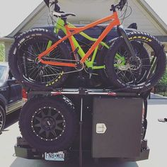 The rear view all set up and ready to hit the road #fatbike @rsdbikes @surface604 #vanlife #sportsmobile #sprintervan #campervan #overland #roamtheplanet #wildernessculture #getoutstayout #exploremore