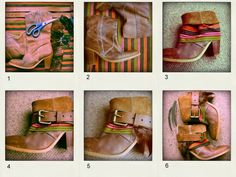 DIY Bohemian Boots Add A Little Flair To Old Boots   Pinkous
