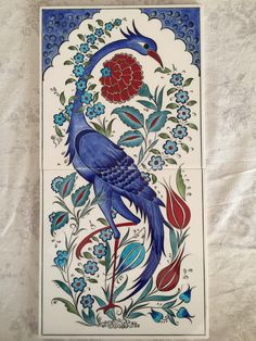 Pencil Art Drawings, My Drawings, Ceramic Painting, Ceramic Art, Turkish Art, Turkish Plates, Arabesque Pattern, Islamic Art Calligraphy, Panel Art