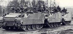 Lynx recce vehicles of the Royal Canadian Regiment, West Germany in 1980. The Lynx (AKA the M113x1/2) originated as a private venture of M113 builder FMC Corporation in 1963, using similar construction and sharing many parts with the M113. However the Lynx has a rear mounted engine, shorter profile, and just four road wheels. Canada and the Netherlands both bought the vehicle for recon units