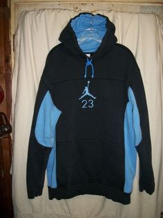 Air jordan 23 size xl pullover hoodie hooded sweatshirt lt blue   black 6500f9c8156