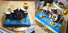 Drums topper for a 18's cake ...
