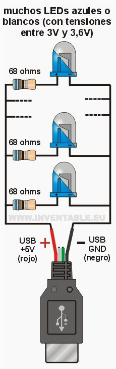 Conectar LEDs al USB | Inventable
