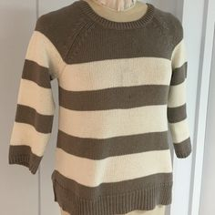 Wide Striped Sweater NWT Perfect fit for a good reason Sweater 💯cotton 3/4sleeves. LOFT Sweaters