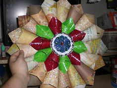 paper wreaths how to
