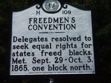 """September 29, 1865: five months after the close of the #CivilWar, the """"Convention of the Freedmen of North Carolina,"""" a statewide assembly of African Americans, gathered at the African Methodist Episcopal Church in #Raleigh"""