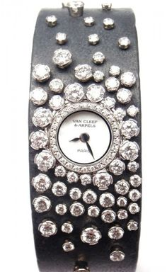 b670236620d Van Cleef   Arpels Rosee 18K White Gold Diamond Womens Watch Gold Watches