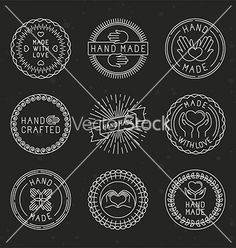 Set of linear badges and logo design elements vector - by venimo on VectorStock®