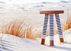 striped bench by Sweet Paul via Cush and Nooks