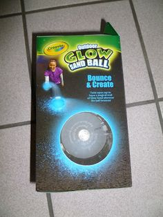 Crayola Sand Glow Ball http://evan-and-lauren-a.blogspot.com/2012/05/51312-crayola-glow-sand-ball-review.html