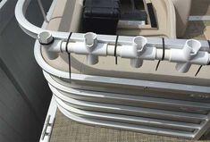 Homemade Rod Holders for Pontoon Boats . - Homemade Rod Holders for Pontoon Boats … - Fishing Pole Storage, Fishing Pole Holder, Fishing Reels, Fishing Pontoon Boats, Ice Fishing, Best Pontoon Boats, Bass Fishing, Pontoon Boating, Crappie Fishing