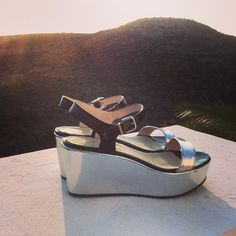 #kmbshoes #moonshoes #shoes #silver #wedges #miami #ss13 #collection