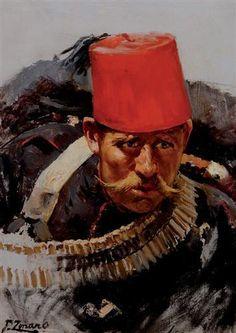 Ottoman Soldier during the Battle at Domokos, Fausto Zonaro, 1901.