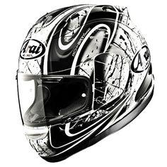 Arai motorcycle helmet my husband owns one very pricey but worth it! Arai Helmets, Motogp, Arai Rx7, Custom Helmets, Bike Rider, Cool Motorcycles, Super Bikes, Safety Tips, Motorcycle Helmets