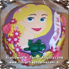 038. Tort Roszpunka z Pascalem. Rapunzel with Pascal cake.