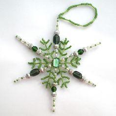 Green Snowflake Christmas Decoration