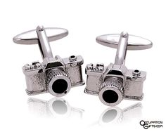 Camera cuff links. A unique gift for the photographer.