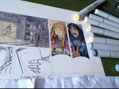 "Case après case...                 ""Travail en cours "". Technique: Copic markers + crayons de couleur. ""Work in progres"". Technique: Copic markers + colour pencils. ""Lavori in corso"". Tecnica: Copic e matite colorate. #stefanotamiazzo #tamiazzo #copic #sketchcopic #bd #bandedessinee #comicart #fumetto #copicfrance #copicitalia"