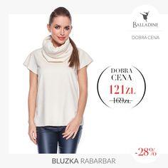 Kremowa bluzka z kominem wykonana z przyjemnego w dotyku, puszystego futerka - czy to nie idealny wybór na zimę? :)  Bluzka Rabarbar | http://goo.gl/bgA1Uz