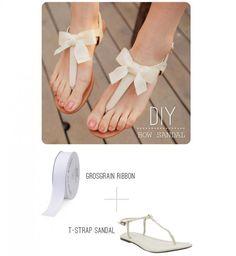 Top 10 des DIY mode à tester d'urgence : les sandales à noeud - Cosmopolitan.fr