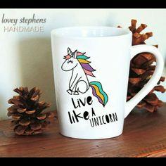 #loveystephens #etsy #isellonetsy #mug #cup #coffeemug #coffeecup #teacup #coffeelover #coffeedrinker #shop #unicorn #livelikeaunicorn #coffemug #custom #colorful